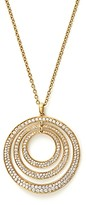 Ippolita 18K Yellow Gold Glamazon Stardust Three-Ring Concentric Necklace with Diamonds, 20.5