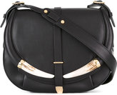 Roberto Cavalli flap shoulder bag - women - Leather/Cattle Horn - One Size