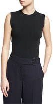 A.L.C. Travis Sleeveless Crisscross-Back Stretch Top, Black