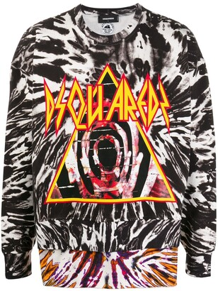 DSQUARED2 tie-dye logo sweater