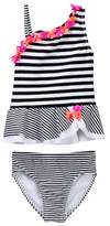 Flapdoodles Black/White Striped 2-Piece (Toddler Girls)