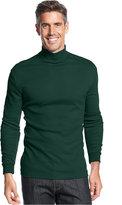 John Ashford Big and Tall Long-Sleeve Mock Neck Solid Interlock Shirt