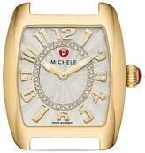Michele Urban Mini Gold Diamond Dial Watch Head, 29 x 30mm