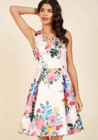 ModCloth Ladylike Luxury Fit and Flare Dress in Petal in M