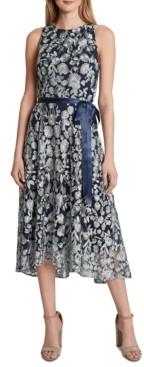 Tahari ASL Floral Midi Dress