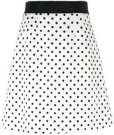 Dolce & Gabbana polka dot brocade skirt - women - Silk/Cotton/Spandex/Elastane/Viscose - 42