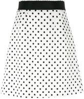 Dolce & Gabbana polka dot brocade skirt