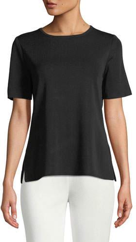 Misook Short-Sleeve Shell, Plus Size