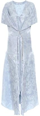 Loewe Linen and silk jacquard dress
