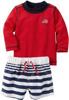 Carter's 2-pc. Long-Sleeve Rashguard and Swimsuit Set - Baby Boys newborn-24m