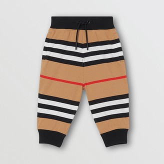 Burberry Icon Stripe Cotton Jogging Pants