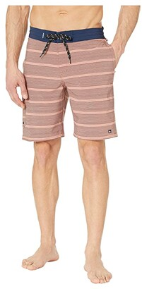 Quiksilver Waterman Angler Stripe 20 Beachshorts (Canyon Rose) Men's Swimwear