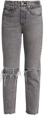 Rag & Bone Maya High-Rise Distressed Ankle Slim Jeans