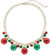 Christmas Ornament & Jingle Bell Necklace