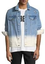 Ovadia & Sons Checker-Wash Denim Jacket