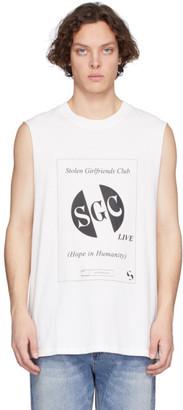 Stolen Girlfriends Club White SGC Live Razor Tank