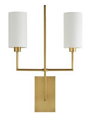 Arteriors Ray Booth 2-Light Wallchiere Finish: Antique Brass
