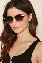 Forever 21 Etched Cat Eye Sunglasses