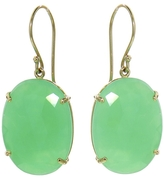 Jamie Joseph Rose Cut Chrysoprase Oval Drop Earrings