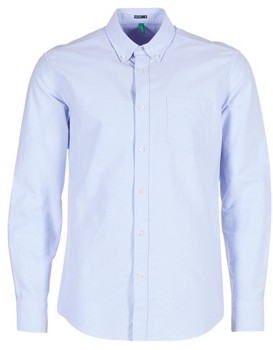 Benetton SOCRE men's Long sleeved Shirt in Blue