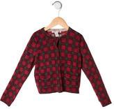Bonpoint Girls' Wool Plaid Cardigan