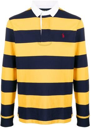 Polo Ralph Lauren Logo Embroidered Striped Polo Shirt