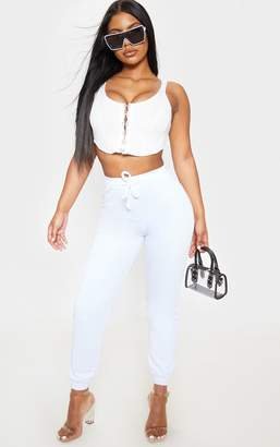 PrettyLittleThing White Ultimate Jogger