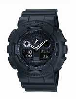 G-shock Black Round Face Digi-analogue Watch Ga-100-1a1er