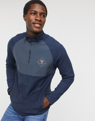 Barbour Beacon Tarn half zip sweat in navy