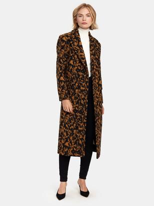 Diane von Furstenberg Elsa Double Breasted Long Wool Coat
