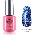 Perfect Summer Quick Drying 8ml Sweet Pink Bottle Colors Long Wearing UV Led Soak Off Gel Polish French Nails Lacquers for Teens Girls #223 blue