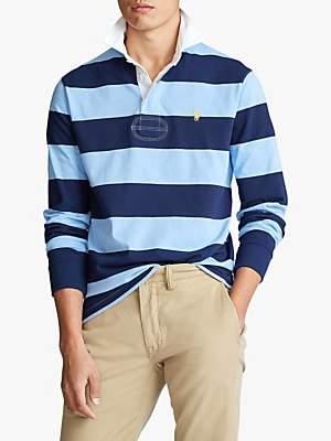 Ralph Lauren Polo Stripe Rugby Polo Shirt