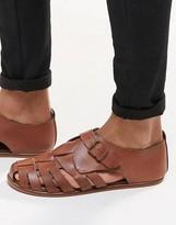 Asos Fisherman Sandals in Tan Leather
