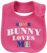 "Carter's Baby Girl Some Bunny Loves Me"" Embroidered Bib"