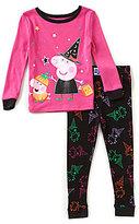 Komar Kids Little Girls 2T-4T Halloween Peppa Pig Top & Printed Pants Pajama Set