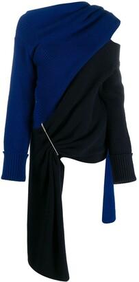Monse scarf-neck asymmetric knit top