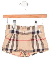 Burberry Girls' Exploded Check Mini Shorts