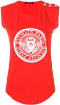 Balmain logo crest tank top