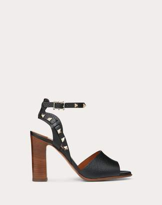 Valentino Garavani Grainy Calfskin Ankle Strap Sandal 100 Mm Women Ivory 100% Pelle Di Vitello - Bos Taurus 38.5