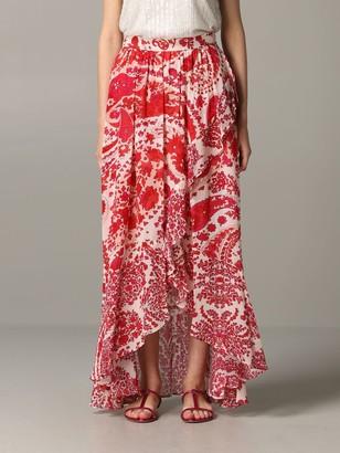 Twin-Set Long Patterned Skirt