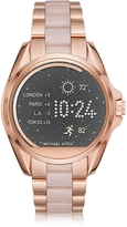 Michael Kors Rose Gold-Tone Stainless Steel and Pink Acetate Bradshaw Women's Smartwatch