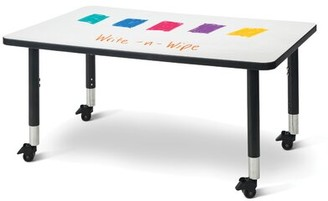 """Jonti-Craft BerriesA Dry Erase Adjustable Height Rectangular Activity Table with Casters Size: 31"""" H x 48"""" L x 30"""" W"""