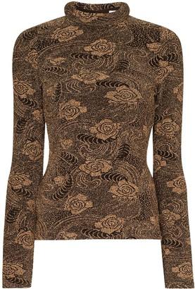 REJINA PYO Riona metallic print jersey top