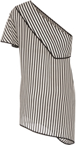 Diane von Furstenberg Striped One Shoulder Blouse
