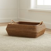Crate & Barrel Sedona Honey Low Basket