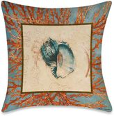 Bed Bath & Beyond Square Outdoor Throw Pillow in Coral Medley Shell 1
