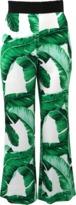 Dolce & Gabbana Leaf Print Cropped Pant