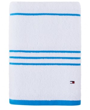 "Tommy Hilfiger Modern American Stripe 30"" x 54"" Cotton Bath Towel Bedding"