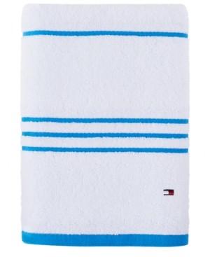 "Tommy Hilfiger Modern American Stripe 30"" x 54"" Cotton Bath Towel Bedding"