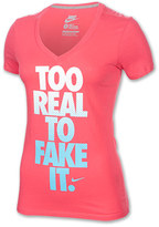 Nike Women's Too Real Mid V-Neck T-Shirt